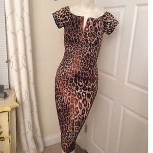 NWOT Leopard dress